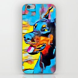 Doberman 5 iPhone Skin