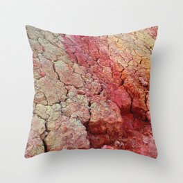 Red Clay Cliffs Throw Pillow