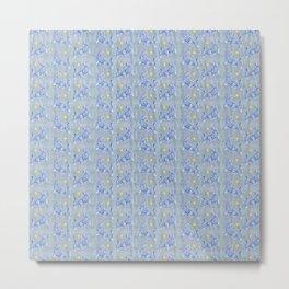 Blue Tigers Metal Print