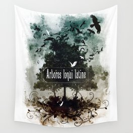 arbores loqui latine Wall Tapestry