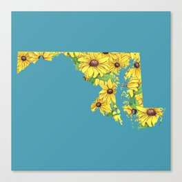Maryland in Flowers Canvas Print