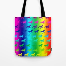 Psychedelic Unicorn Pattern Tote Bag
