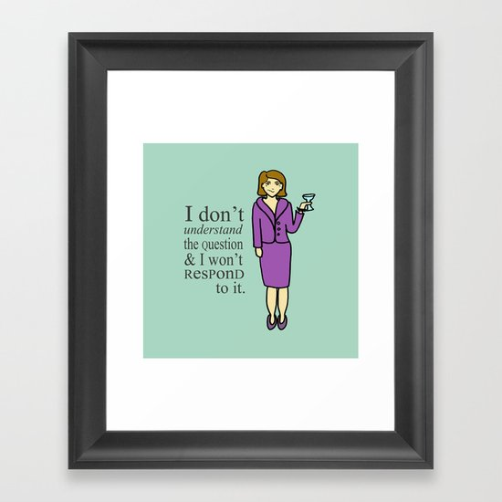 Lucille Bluth Framed Art Print