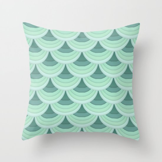 Ocean Fan Tail. Throw Pillow