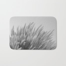 Foxtails on a Hill in Black and White Bath Mat