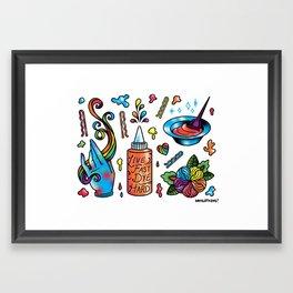 Dye Hard Flash Sheet Framed Art Print