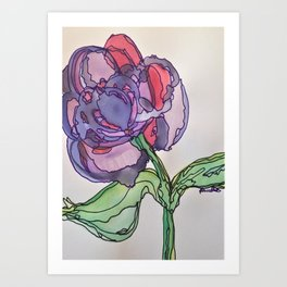 Purple and Pink Art Print