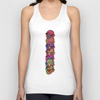 glasses Tank Tops featuring GLASSES by Gianluca Floris