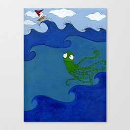 The Octopus and the Boat Canvas Print