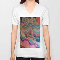 trippy V-neck T-shirts featuring Trippy by sheuh