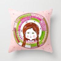 virgo Throw Pillows featuring Virgo by Sandra Nascimento