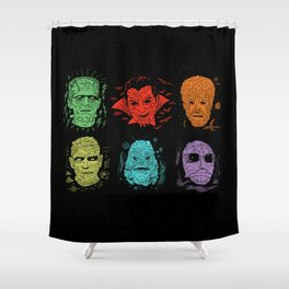 Old Grotesque Shower Curtain