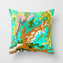 The Rizla Tree Throw Pillow