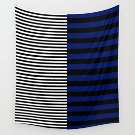 Different Sides (Blue) Wall Tapestry