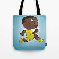 runner Tote Bags featuring Runner by Jordygraph
