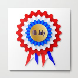 Independence Day Rosette Metal Print