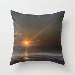 Breaking Dawn Daytona Beach Throw Pillow
