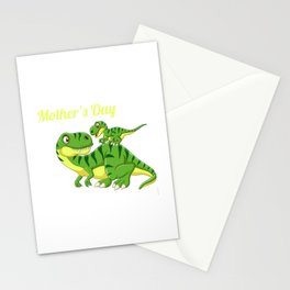 Our First Mother's Day 2021 T Rex Dinosaur Mom Baby Matching Stationery Cards