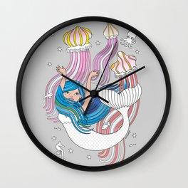 Mermaid with Medusas Wall Clock