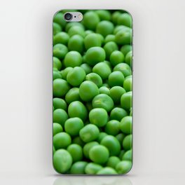 Green peas veggie pattern iPhone Skin