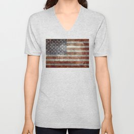 Old Glory, The Star Spangled Banner Unisex V-Neck