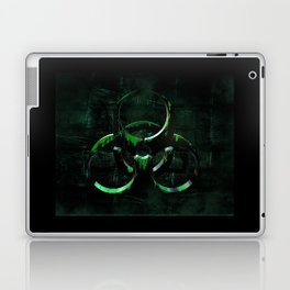 Green Grunge Biohazard Symbol Laptop & iPad Skin