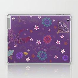 Purple Japanese kimono pattern Laptop & iPad Skin
