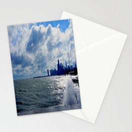 When Sandy Made Waves in Chicago #4 (Chicago Waves Collection) Stationery Cards