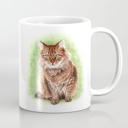 Somali cat portrait Coffee Mug