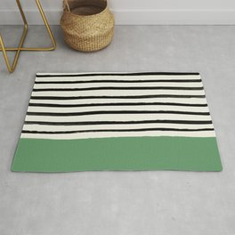 Moss Green x Stripes Rug