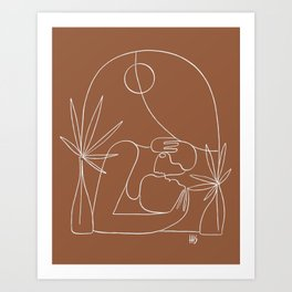 Dreamers no.4 (terracotta) Art Print