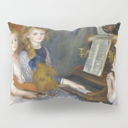 """Auguste Renoir """"The Daughters of Catulle Mendès, Huguette, Claudine, and Helyonne"""" Pillow Sham"""