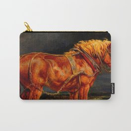 horses paintings oil Carry-All Pouch