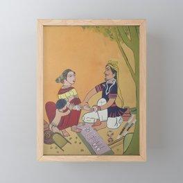 Bangles salesman Framed Mini Art Print