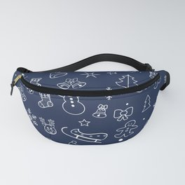Happy New Year & XMAS Symbols Doddle Pattern Fanny Pack