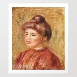 Bust of Woman in Red (Buste de femme en rouge) (1905–1908) by Pierre-Auguste Renoir. Art Print