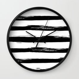 Stylish Black and White Stripes Wall Clock
