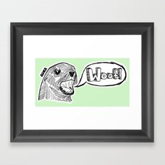 Sea Lion Woof! Framed Art Print