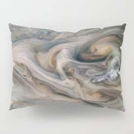 Luminous clouds of Jupiter mission flyby telescopic photograph Pillow Sham