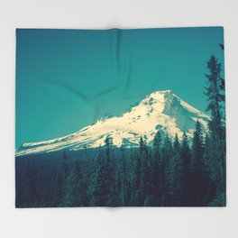 Mount Hood Throw Blanket
