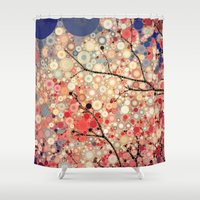 positive Shower Curtains featuring Positive Energy by Olivia Joy StClaire