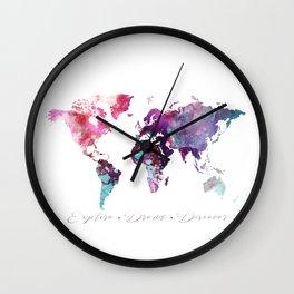 Explore.Dream.Discover Wall Clock