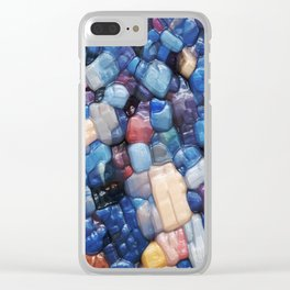 Alphanumeric Typeface Abstract Clear iPhone Case