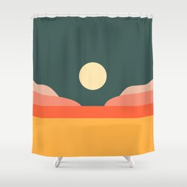 Geometric Landscape 14 Shower Curtain