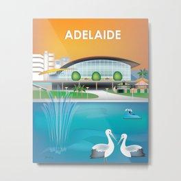 Adelaide, Australia - Skyline Illustration by Loose Petals Metal Print