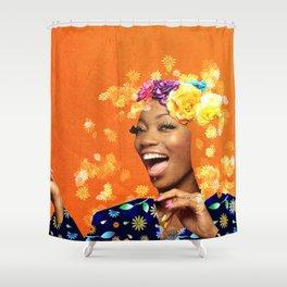 Just a random girl Shower Curtain