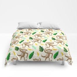 monkey see monkey do Comforters
