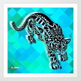 Jaguars from the blue Sky ecopop Art Print