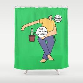 present tense Shower Curtain