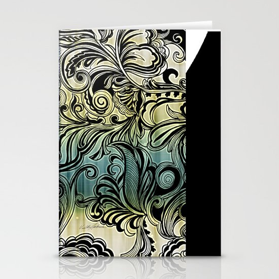 Swirl and Curl Stationery Cards